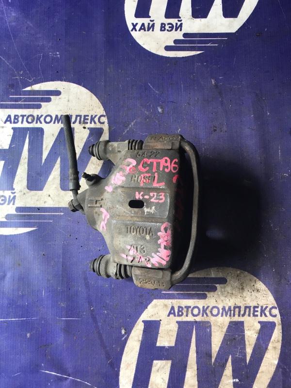 Суппорт Toyota Caldina CT196 2C передний левый (б/у)