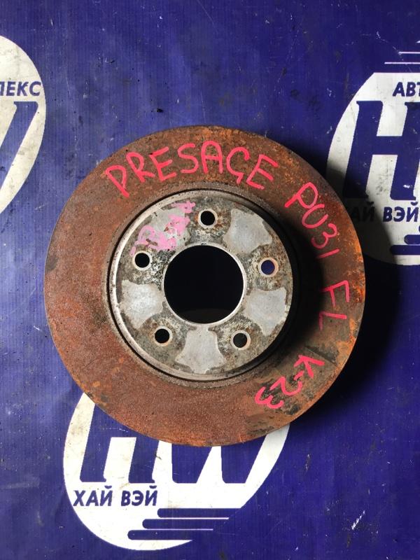 Диск тормозной Nissan Presage TU31 QR25 передний (б/у)