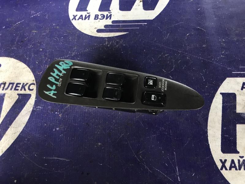Блок упр. стеклоподъемниками Toyota Alphard MNH10 1MZ передний правый (б/у)