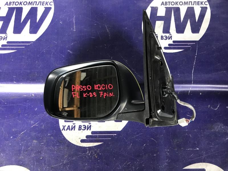 Зеркало Toyota Passo KGC10 1KR левое (б/у)