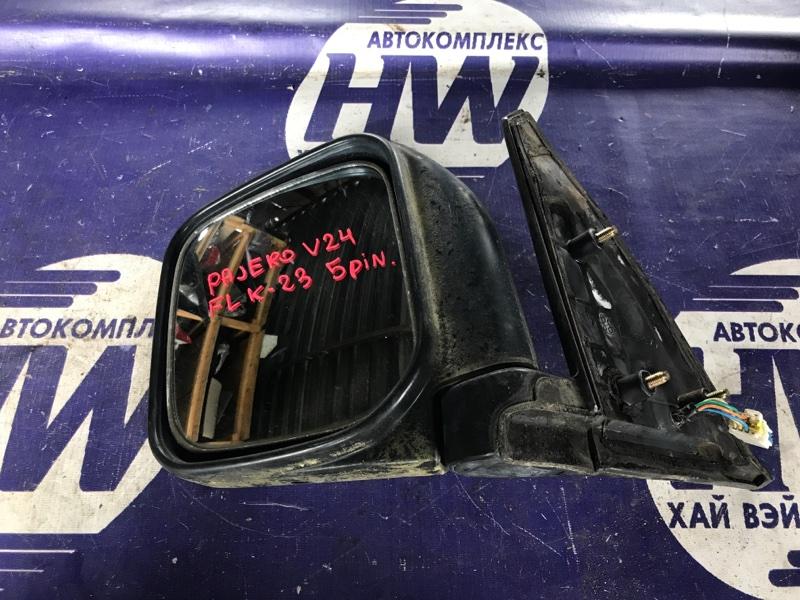 Зеркало Mitsubishi Pajero V24 4D56 левое (б/у)