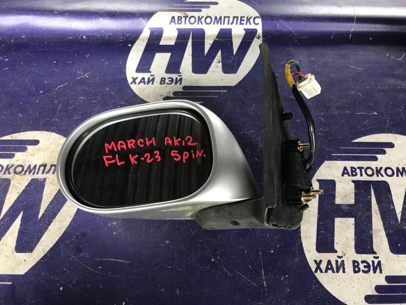 Зеркало Nissan March AK12 CR12 левое (б/у)