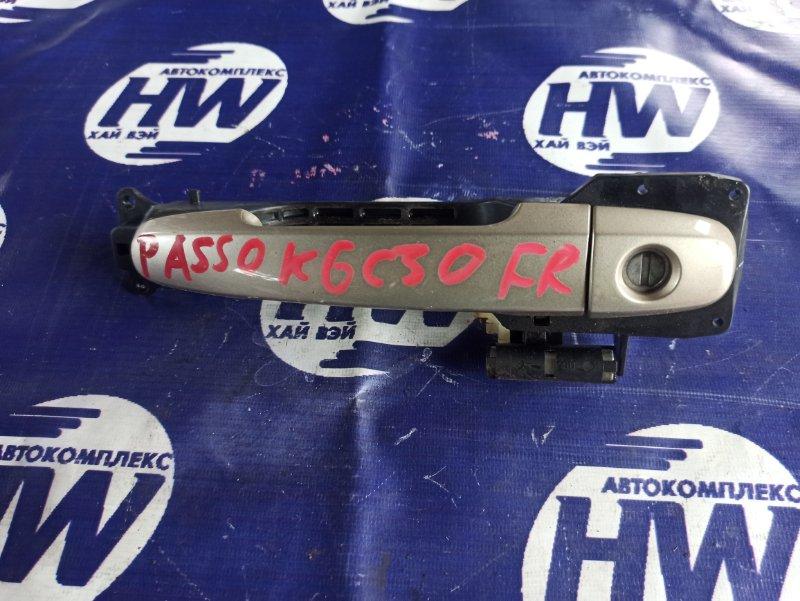 Ручка двери внешняя Toyota Passo KGC30 1KR передняя правая (б/у)