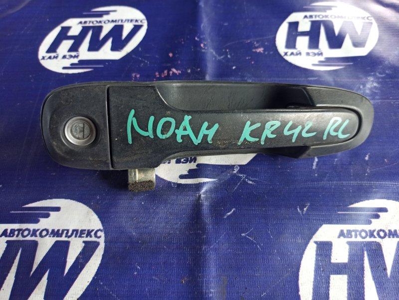 Ручка двери внешняя Toyota Noah KR42 7K задняя левая (б/у)
