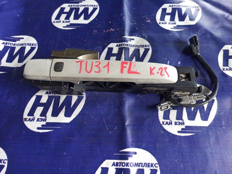 Ручка двери внешняя Nissan Presage TU31 QR25DE передняя левая (б/у)