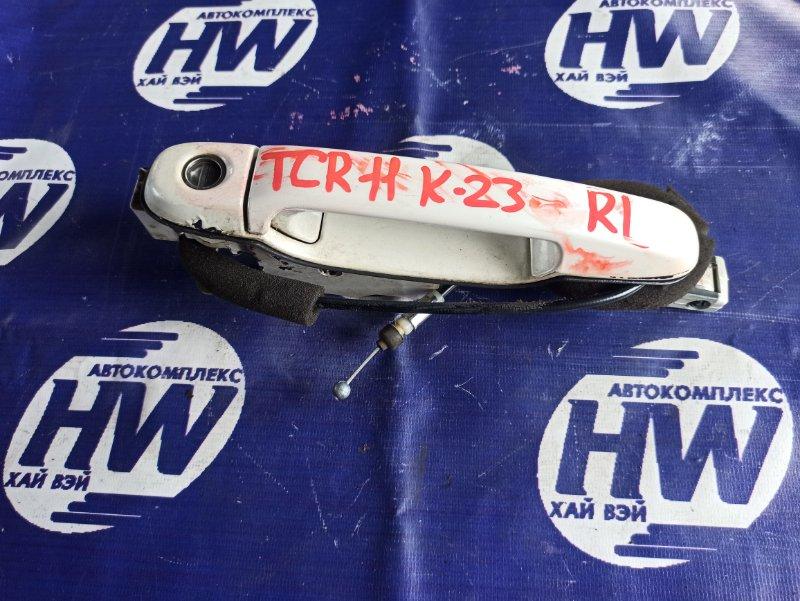 Ручка двери внешняя Toyota Estima TCR11 2TZFZE задняя левая (б/у)