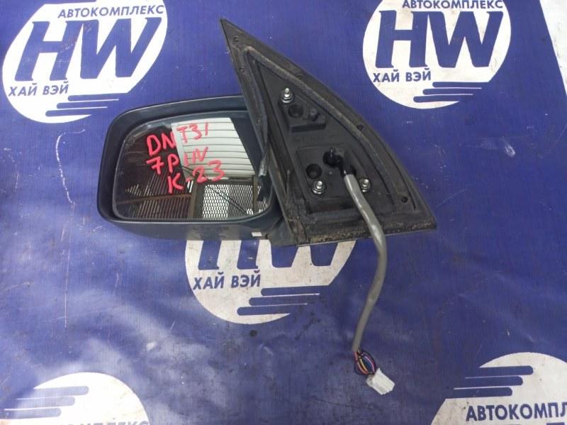 Зеркало Nissan X-Trail DNT31 M9R левое (б/у)