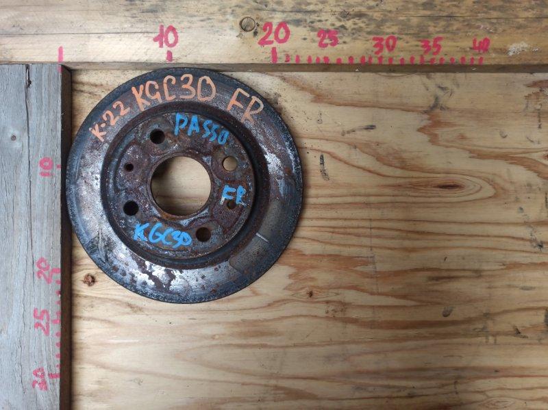 Диск тормозной Toyota Passo KGC30 1KR передний (б/у)