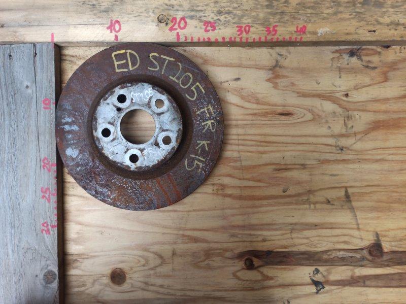 Диск тормозной Toyota Carina Ed ST205 3SGE передний (б/у)
