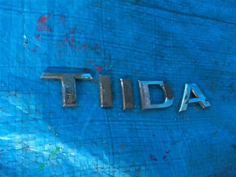 Шильдик Nissan Tiida C11 задний (б/у)