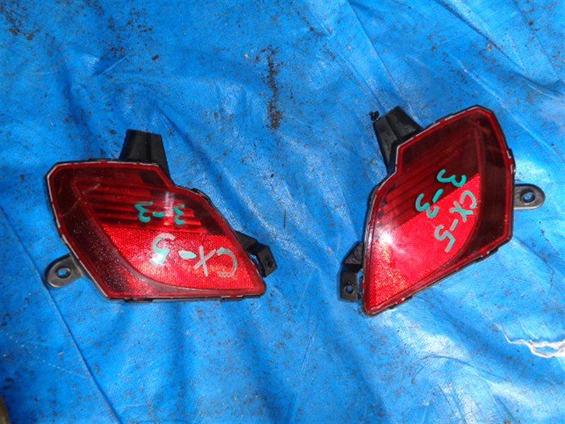 Катафот в бампер Mazda Cx-5 KE2AW правый W0604 (б/у)