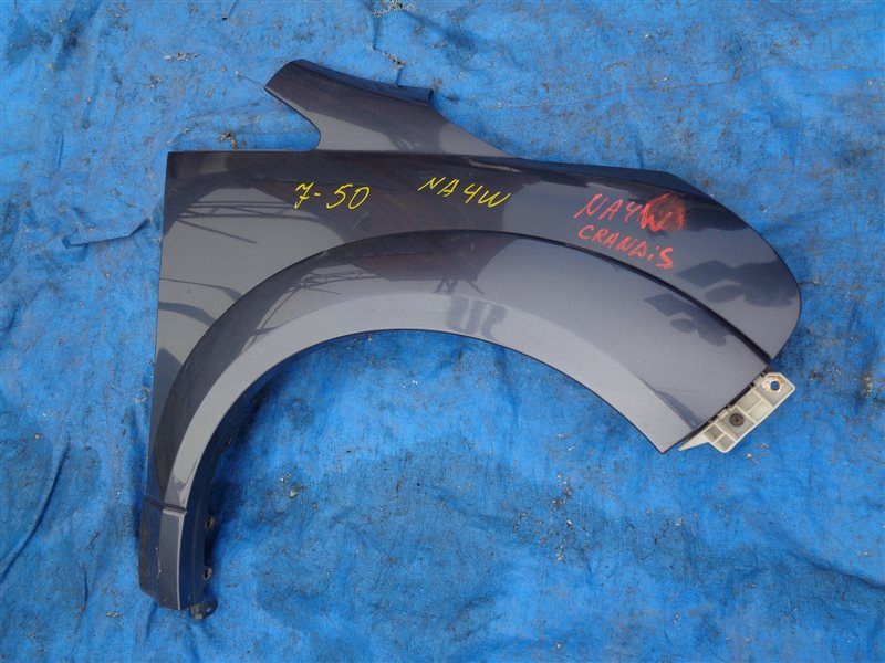 Крыло Mitsubishi Grandis NA4W 4G69 переднее правое + КРЕПЛЕНИЕ БАМПЕРА + ФЕНДЕР (б/у)