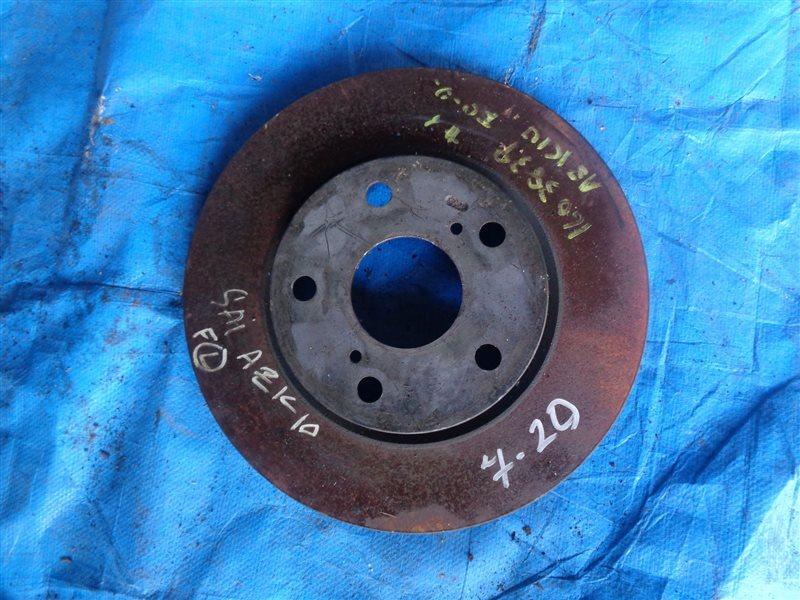 Тормозной диск Toyota Sai AZK10 передний (б/у)