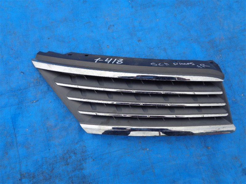 Решетка радиатора Nissan Tiida Latio C11 правая (б/у)
