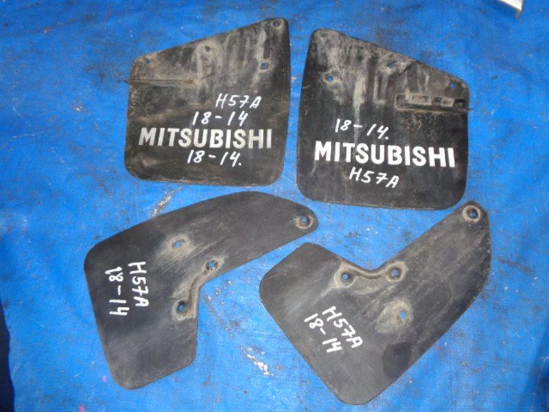 Брызговики комплект Mitsubishi Pajero Junior H57A (б/у)