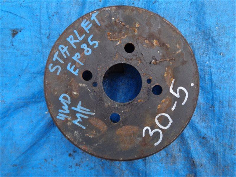 Тормозной барабан Toyota Starlet EP85 4E-FE задний левый (б/у)
