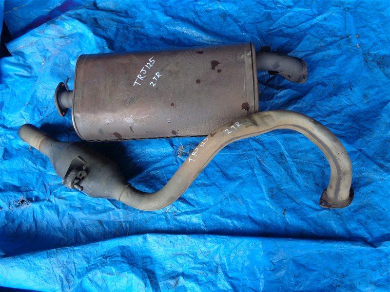 Глушитель Toyota Prado TRJ125 2TR-FE 3 DOOR (б/у)