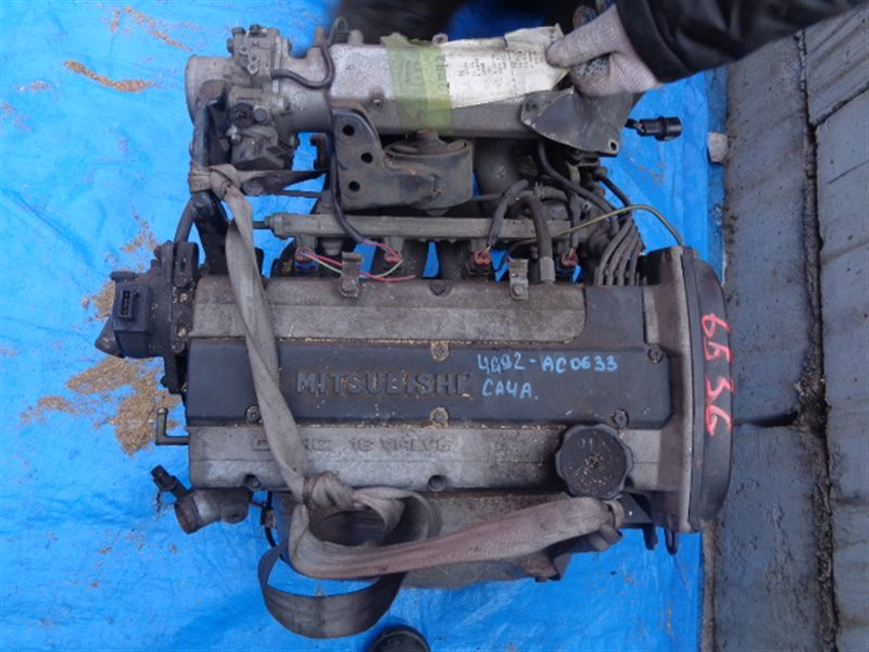 Двигатель Mitsubishi Mirage. Lancer CA4A 4G92 AC0633 (б/у)