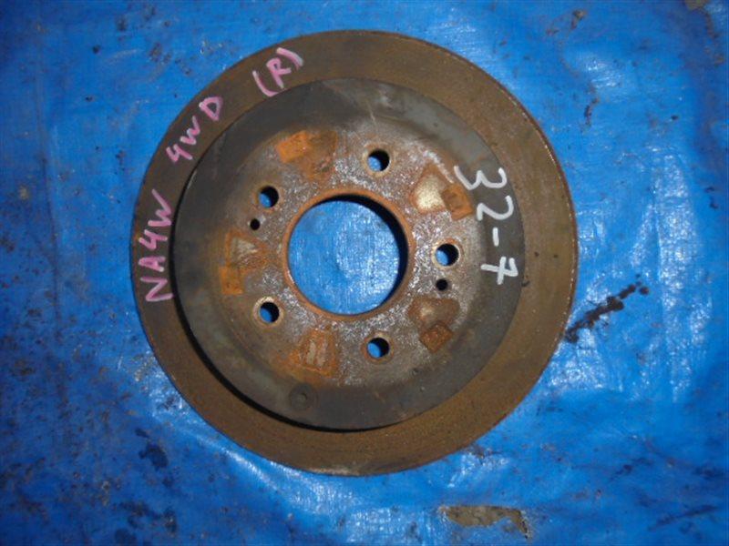 Тормозной диск Mitsubishi Grandis NA4W 4G69 задний (б/у)
