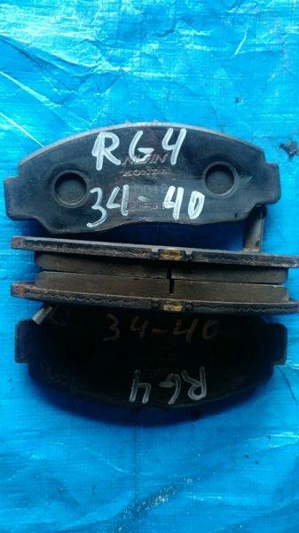 Колодки тормозные Honda Step Wagon RG4 K24A передние (б/у)