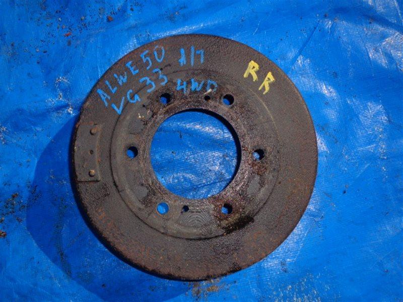 Тормозной барабан Nissan Elgrand ALWE50 VG33E задний правый (б/у)