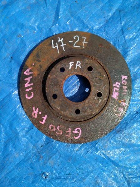 Тормозной диск Nissan Cima GF50 передний (б/у)