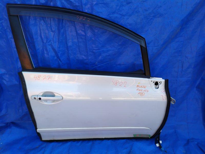 Дверь Toyota Blade AZE154 2AZ-FE передняя правая + ветровик (б/у)