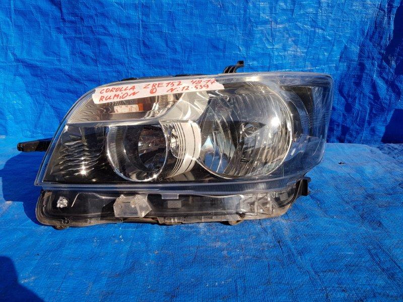 Фара Toyota Corolla Rumion NZE151 левая 12-539 (б/у)