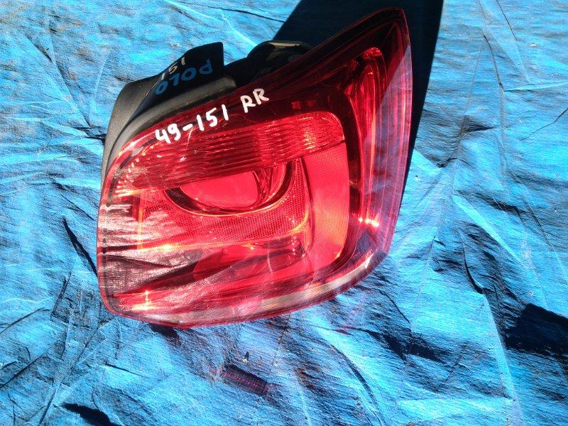 Стоп-сигнал Volkswagen Polo MK5 CBZB 2012 правый CROSS (б/у)