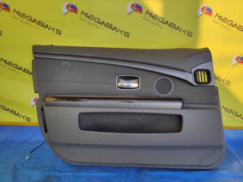 Обшивка дверей Bmw 7-Series E65 N62B44A передняя левая (б/у)