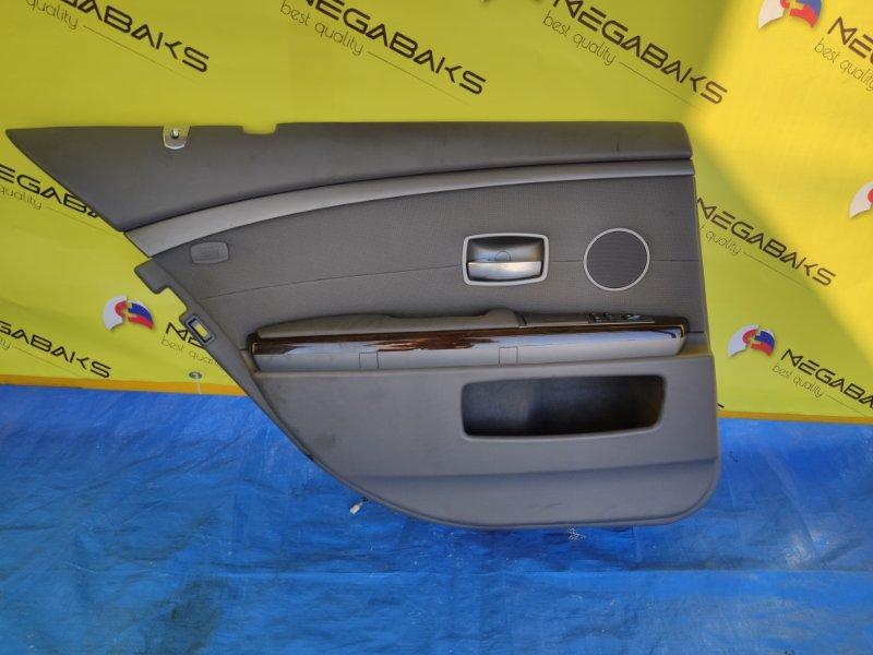 Обшивка дверей Bmw 7-Series E65 N62B44A задняя левая (б/у)