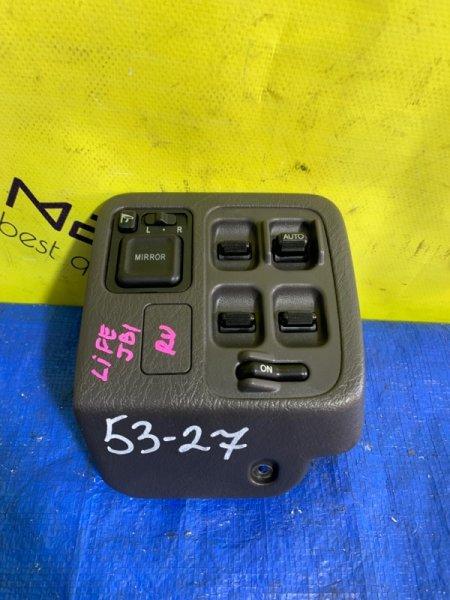 Блок упр. стеклоподьемниками Honda Life JB1 передний правый (б/у)