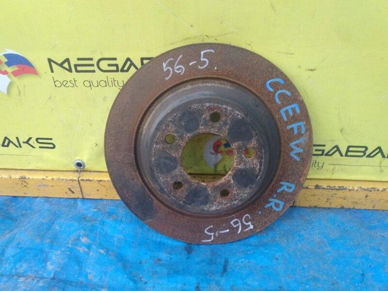 Тормозной диск Mazda Biante CCEFW LF задний (б/у)