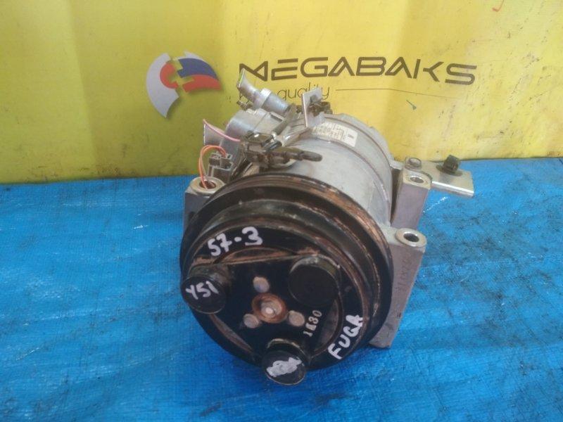 Компрессор кондиционера Nissan Fuga Y51 VQ25HR 92600-1MB0B, CSE617 (б/у)