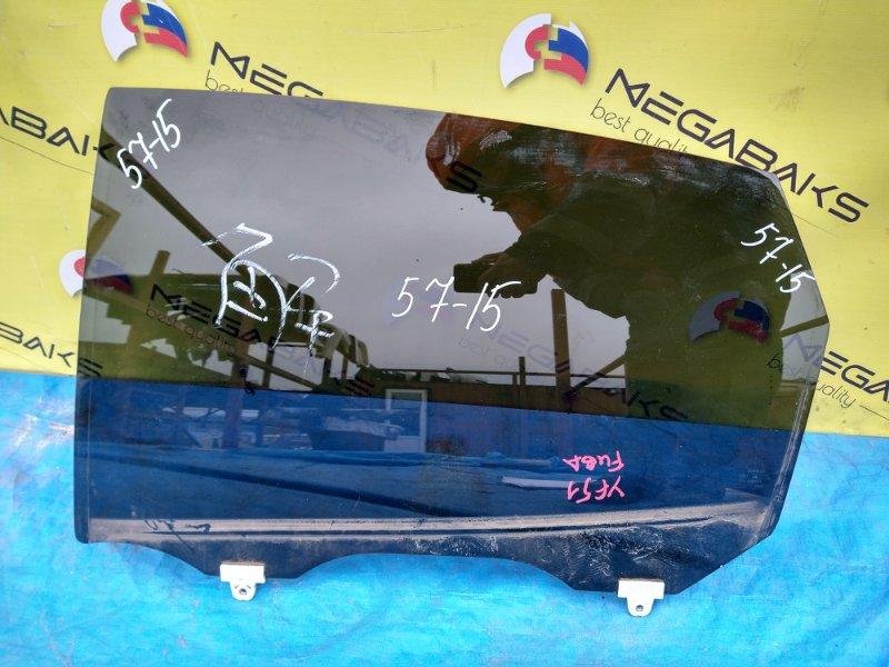 Стекло двери Nissan Fuga Y51 заднее левое (б/у)