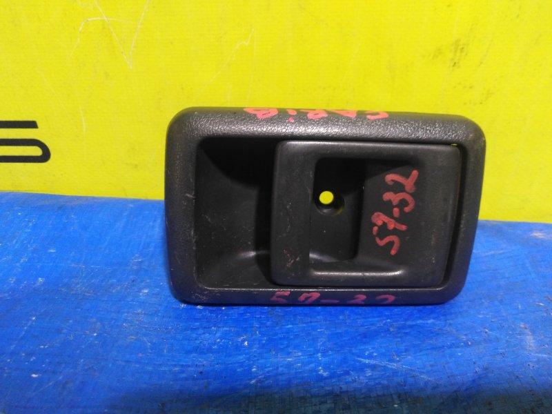 Ручка двери внутренняя Toyota Carib AE95 задняя левая (б/у)