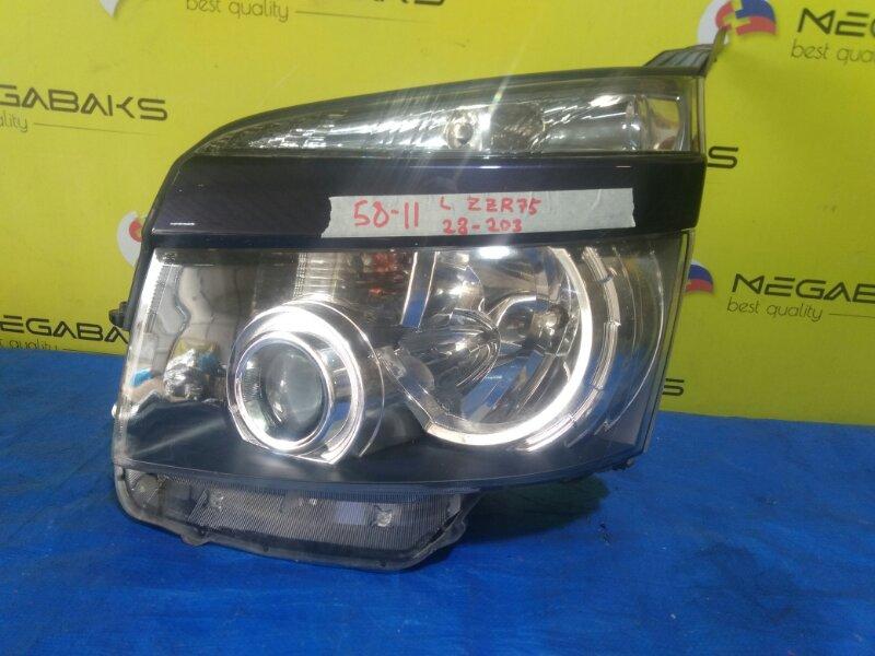 Фара Toyota Voxy ZRR70 левая 28-203 (б/у)