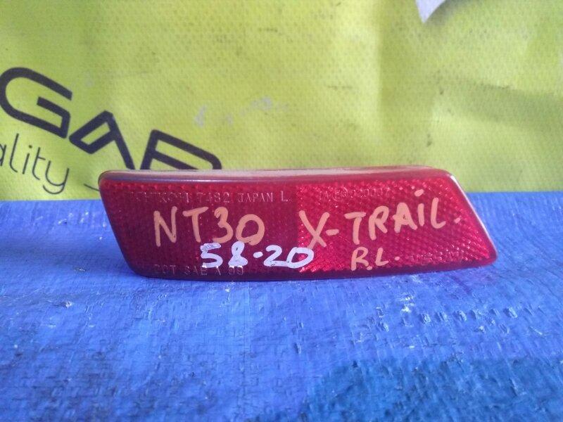 Катафот в бампер Nissan X-Trail T30 задний левый I MODEL (б/у)