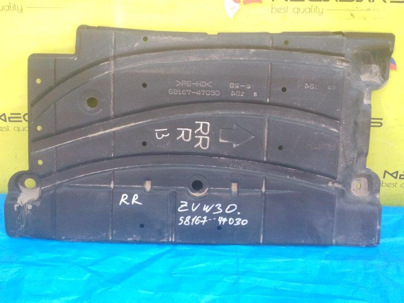 Защита Toyota Prius ZVW30 задняя правая (б/у)