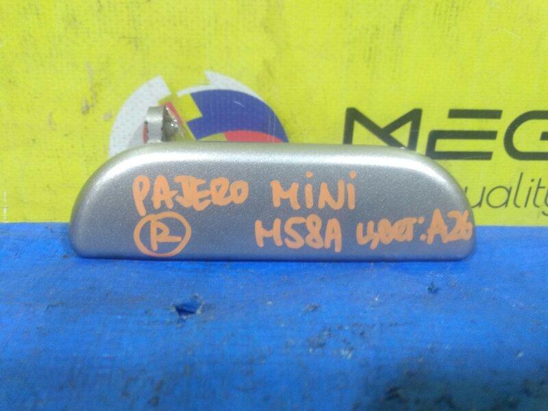 Ручка двери Mitsubishi Pajero Mini H58A передняя правая (б/у)