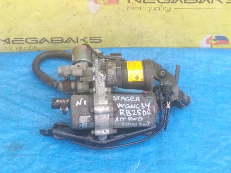Насос включения 4wd Nissan Stagea WGNC34 RB25DE 2001 466100V601 / 53250-10033 (б/у)