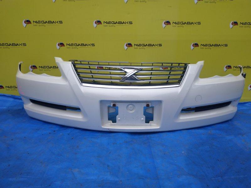 Бампер Toyota Mark X GRX120 передний I MODEL + РЕШЕТКА (б/у)