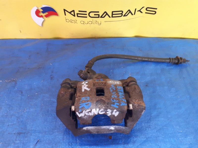 Суппорт Nissan Stagea WGNC34 задний правый 3819 (б/у)