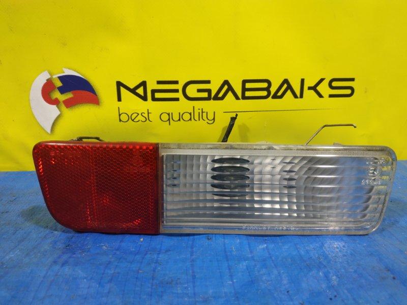 Катафот в бампер Mitsubishi Pajero V75W задний левый R8372 (б/у)