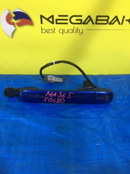 Ручка двери Suzuki Solio MA36S передняя левая (б/у)