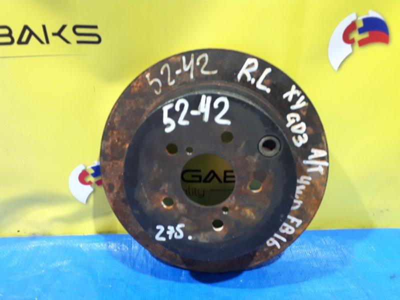 Тормозной диск Subaru Impreza GP3 FB16 задний (б/у)