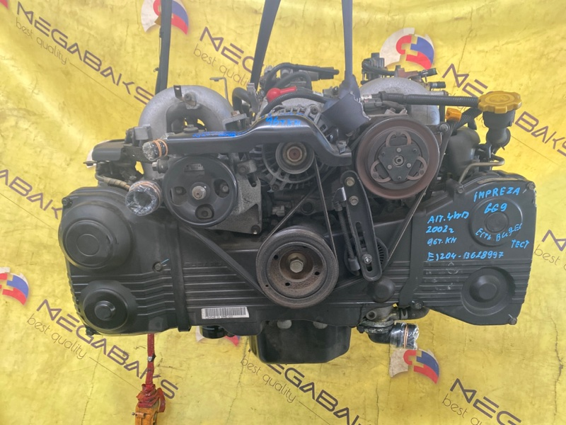 Двигатель Subaru Impreza GG9 EJ204 2002 B628997 (б/у)