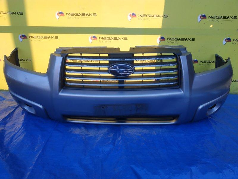 Бампер Subaru Forester SG5 передний II MODEL + РЕШЕТКА (б/у)
