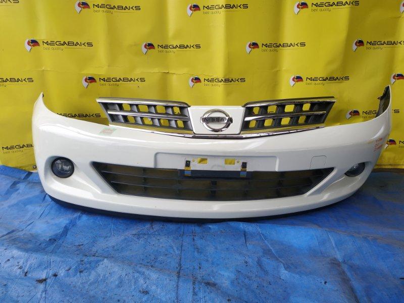 Бампер Nissan Tiida C11 передний II MODEL (б/у)