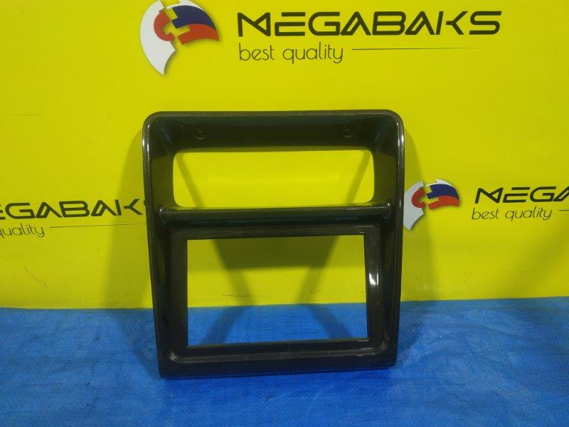 Консоль магнитофона Mitsubishi Pajero Evolution V55 6G74 MR298231, CARBON (б/у)